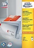 Avery Zweckform 3657 Universal-Etiketten, 48,5 x 25,4 mm, 100 Blatt/4.000 Etiketten, weiß