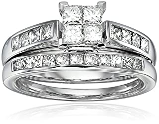 14k Dia Princess Center Engagement Ring (1 1/2 cttw, H-I Color, I1-I2 Clarity), Size 7