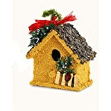 Mr Birds Holiday Birdie Cottage Birdseed House Gift Ideas for the Bird Lover (Cottage 3)