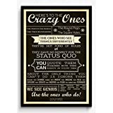 Seven Rays Steve Jobs - Here's To The Crazy Ones Framed (With Glass) Poster
