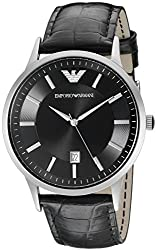 Emporio Armani Analog Black Dial Mens Watch AR2411