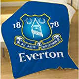 Everton Football Club Crest Fleece Throw Blanket