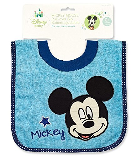 Mickey Mouse Terrycloth Pullover Baby Bib