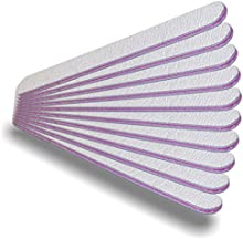 NAILFUN 10 Limas Rectas con Grano de 100/180 - Color Zebra/Rosa