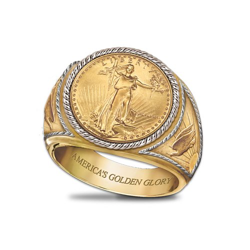 Saint-Gaudens Gold Proof Men's Ring by Bradford Authenticated