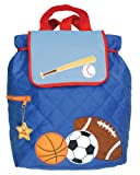 Stephen Joseph Boys 2-7 Boy's Quilted Backpack, Sports, One Size