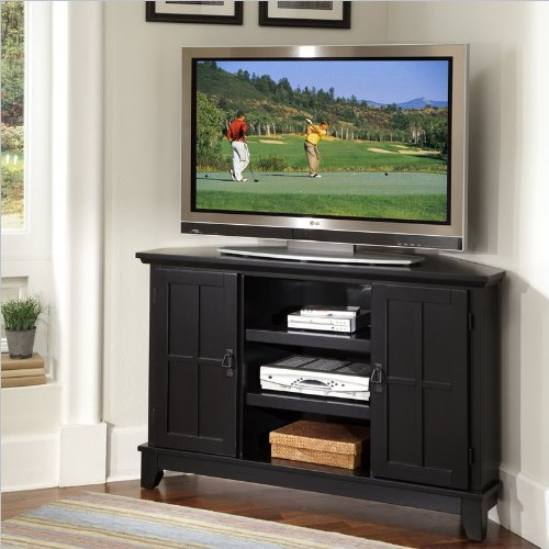 Home Styles Arts & Crafts Corner Entertainment TV Stand in Black