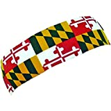 Red Lion Printed Headbands Plush Terry ( Maryland - One Size )