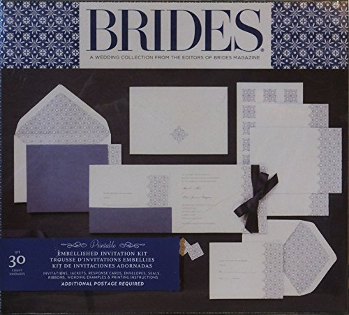 BRIDES A WEDDING COLLECTION FROM THE EDITORS OF BRIDES MAGAZINE EMBELLISHED INVITATION KIT 30