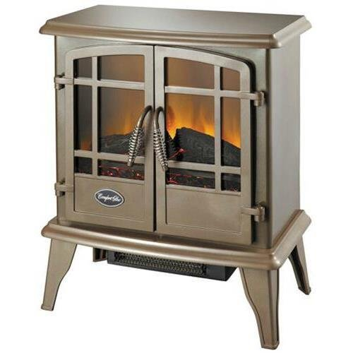 World Marketing Comfort Glow Es5132 Keystone Electric Stove With Thermostat, Bronze