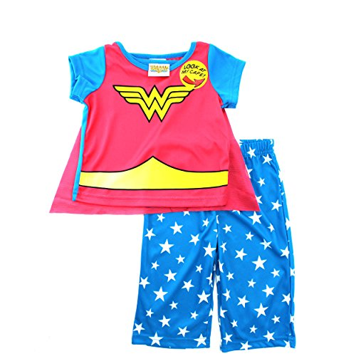 Wonder Woman Infant Blue Pajamas with Cape