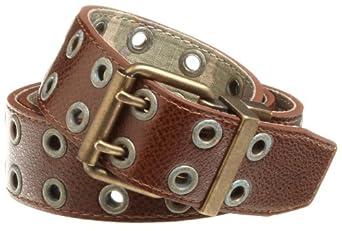 C-Red Men's 40mm Reversible Camo Ripstop Grommet Belt, Brown/Camo, 34