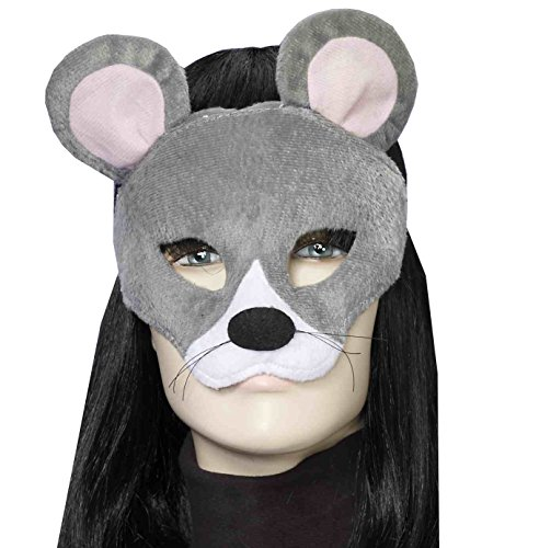 Forum Novelties Women's Plush Mouse Mask, Gray, One Size