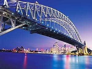 Amazon.com: Amazing Sydney Bridge - Art Print on Canvas (24x16 inches