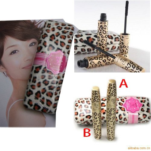 Love Alpho 2 Pcs Lengthening & Curving Mascara Gel & Fiber Black Eyelash-Leopard