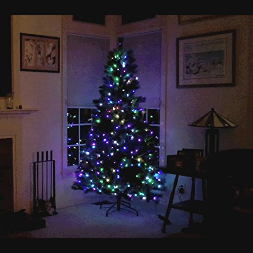 75-Ft-PreLit-Artificial-Tree-400-LEDs-Switch-Between-Multicolor-White-6-individual-colors-Total-of-40-Function-and-Color-Combinations-Center-post-connection-only-1-plug
