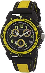 Sector R3271697027 - Reloj para niños de cuarzo, correa de textil color amarillo