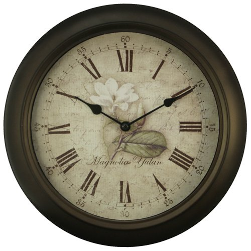 Kitchen Wall Clocks Equity 12 Inch Brown Metal Wall