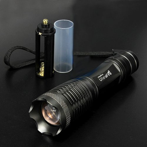 Maxsale Ultrafire 12W Cree T6 1800Lm Zoomable Led Flashlight(1*18650)