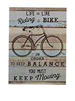Premier Interiors Panel Decorativo Bike wall Plaque Multi/Coloured