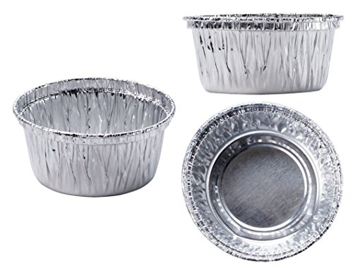 Aluminum Foil Muffin Cupcake cups 100 pieces Ramekin 4 oz Cups Disposable 100 pieces