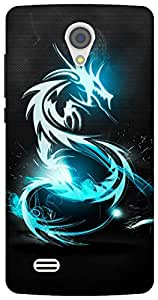 The Racoon Grip Blue Dragon hard plastic printed back case for Vivo Y21