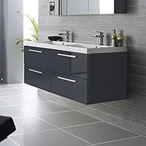 meuble de salle de bain double vasque lavabo nogara. Black Bedroom Furniture Sets. Home Design Ideas