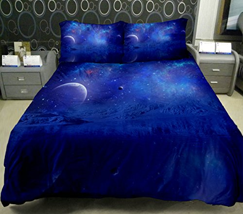 Anlye Blue Moon Bedding Sets For Home Decor 2 Sides Printing Blue Moon On Quilt Duvet Cover With 2 European Pillow Cases King front-591565