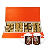 Chocholik Belgium Chocolates - 24pc Amazing Treat Of Baklava Gift Box With Diwali Special Coffee Mugs - Diwali...