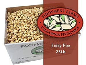 25 Lbs Fiddy Fire In-shell Pistachios
