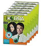 Ratan's Korra hair coloring shampoo Black color Pack of 6-30 ml Each