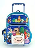 Full Size Blue Adventure Time Cast with 3D Finn Rolling Backpack