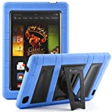 i-Blason All New Kindle Fire HD 7 Inch Tablet (2nd Generation) ArmorBox 2 Layer Convertible [Hybrid] Full-Body Protection KickStand Case with Built-in Screen Protector for Kids Friendly (Blue/Black)