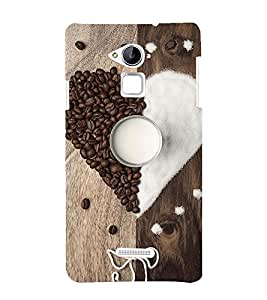 ASSORTED COFFEE BEANS AND SUGAR MAKING A HEART AND DEPICTING SWEETNESS 3D Hard Polycarbonate Designer Back Case Cover for Coolpad Note 3