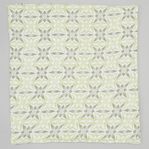 Bambino Land, Geometric - Green Muslin Swaddling Blanket - 1