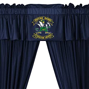 Notre Dame Fighting Irish Long Curtains Drapes Valance Set Home Kitchen
