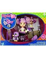 Blythe Aime Littlest Petshop - Collection Colorée Mignonne - Purple Ribbons & Twirls - N°B43 Blythe & N°2411 Cygne avec Accessoires!