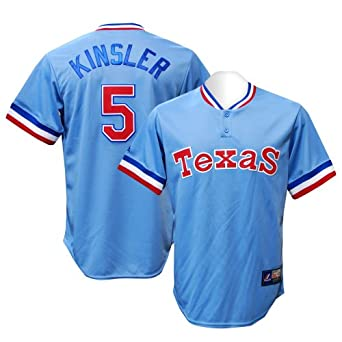 Texas Rangers Ian Kinsler 1976 Turn Back the Clock Replica Baseball Jersey By... by Majestic