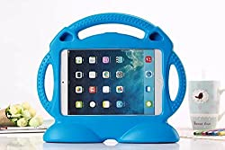 Eastchina| Quality Light Weight Eva Foam Kids Shock Proof iPad Mini Stand Cover Case With Free Hand Standing, Designed For iPad Mini | iPad mini 2 | iPad Mini 3 | iPad mini 4 (Blue)
