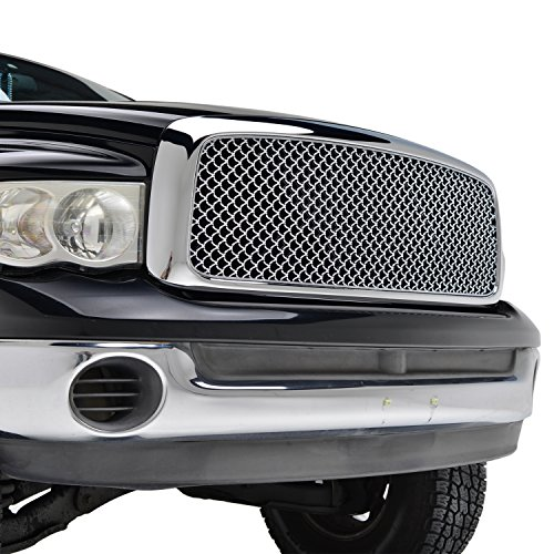 E-Autogrilles 02-05 Dodge Ram 1500 Chrome ABS Replacement Mesh Grille Grill With Shell (41-0113) (2004 Dodge Ram 1500 Grill compare prices)