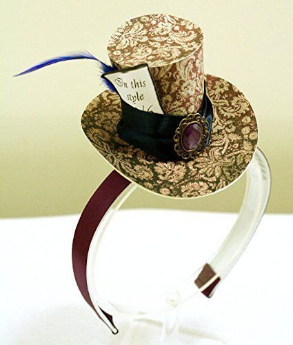 Purple Mini Top Hat Headband Mad Hatter Tea Party Alice in Wonderland Costume