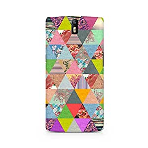 Ebby Colorful Triangles Premium Printed Case For OnePlus One