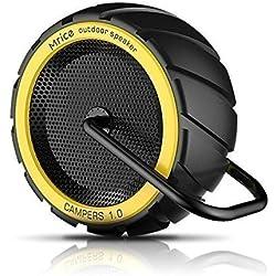 Mrice Campers Tire Shape Splashproof Portable Bluetooth Speaker