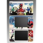 Power Rangers Super Samurai Video Game MMPR RPM Jungle Fury Red Black White Yellow Pink Video Game Vinyl Decal Cover Skin Protector for Nintendo DSi XL