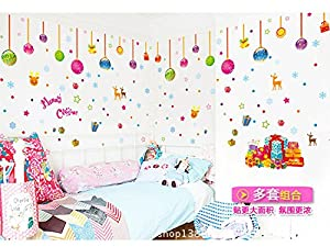 LLLDB Wall Paper Shop Front Windows Children Room Is Well Furnished Decoration Christmas Day Atmosphere Lm873 Christmas Mandatory by Christmas decorations LLLDB