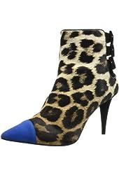 Giuseppe Zanotti Women's Colored Pointy-Toe Leopard Bootie