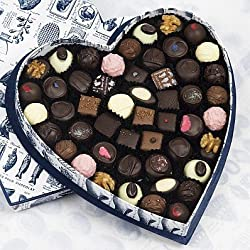 Rococo Heart Box no. 4 with mixed chocolates
