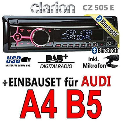Audi a4 b5-clarion cZ505E-digital avec bluetooth/dAB