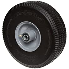"RWM Casters SF1 10"" Diameter Maintenance Free Solid Foam Hand Truck Wheel, 3"" Width, 5/8"" Axle"