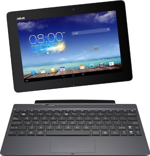Asus New Transformer Pad TF701T 25,7 cm (10,1 Zoll) Convertible Tablet-PC (Nvidia Tegra 4, 1,9 GHz, 2GB RAM, 32 GB eMMC, NVIDIA 72 Core, Touchscreen, Android 4.2, WQXGA Auflösung ( 2560x1600 ) IPS Display) inkl. KeyDock grau